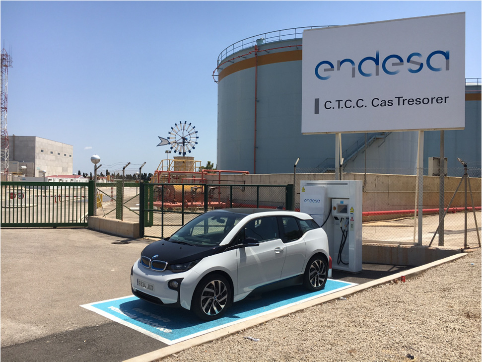 DC quick charge station of local energy provider Endesa